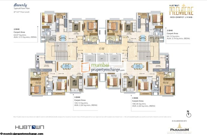 Hubtown Premier Floor Plan