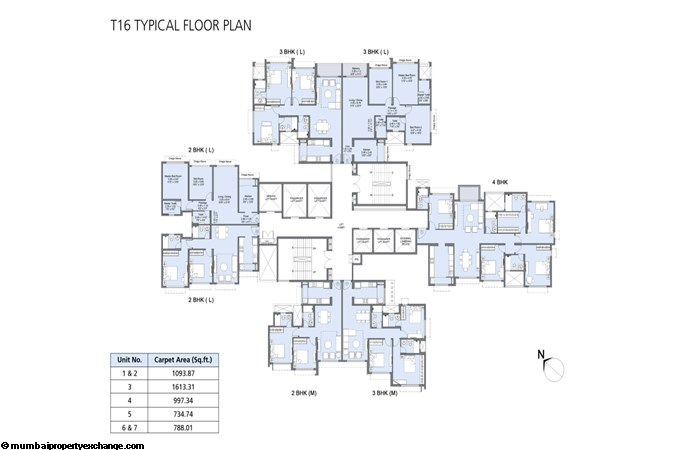 L&T Emerald Isle Tower 16 Emerald Isle Tower 16 Typical Floor Plan