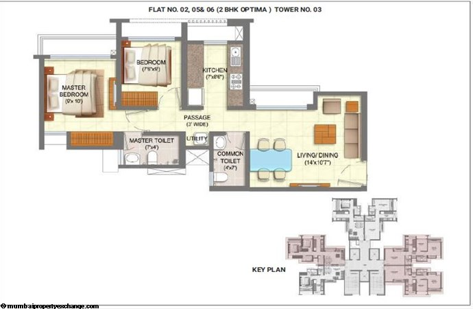 Runwal My City (Serenity) Runwal MyCity 2BHK Optima Unit 02-05-06 - Tower 3