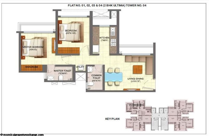 Runwal My City (Serenity) Runwal MyCity 2BHK Ultima Unit 01-02-03-04 - Tower 4