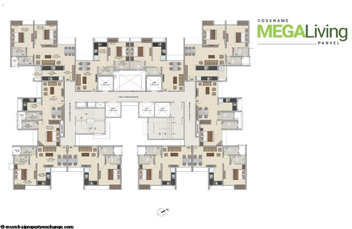 Wadhwa Wise City Wise City  Typical FLoor Plan-1