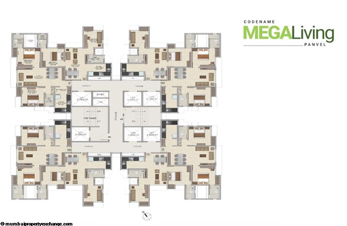 Wadhwa Wise City Wise City  Typical FLoor Plan-2