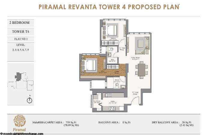 Piramal Revanta  Piramal-Revanta-T4-2BHK-unit-1