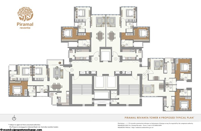 Piramal Revanta  Piramal-Revanta-T4-TypicalFloorPlan