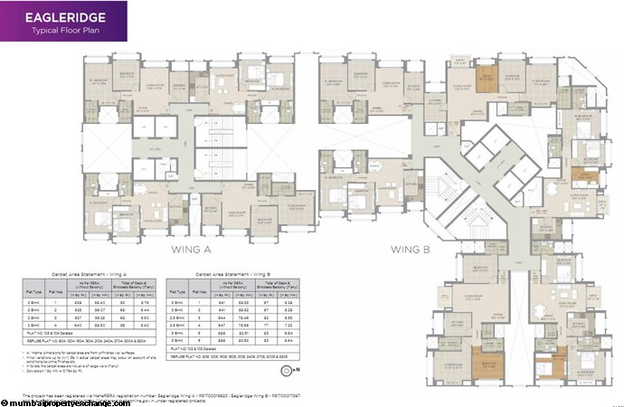 Hiranandani Eagleridge Hiranandani Eagleridge Typical Floor Plan