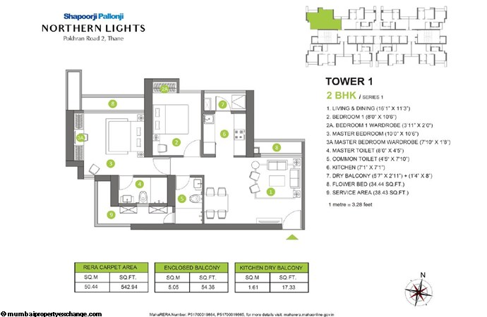 Northern Lights Northern Lights 2BHK Tower 1 Series 1