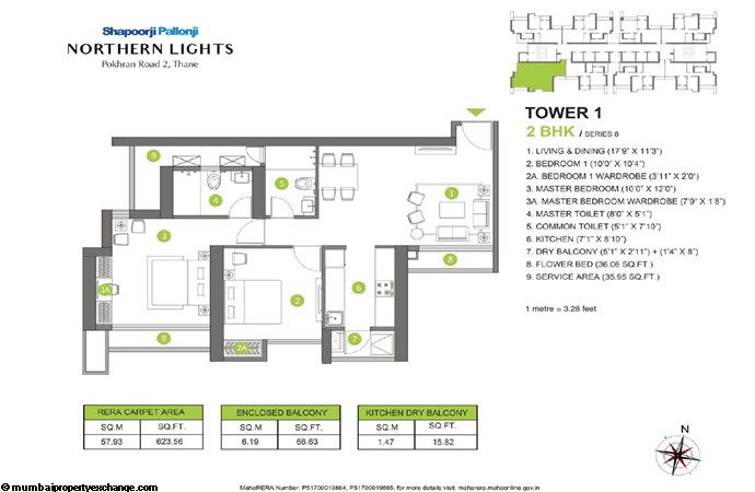 Northern Lights Northern Lights 2BHK Tower 1 Series 8