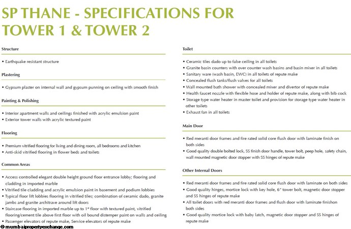 Northern Lights Northern Lights Specifications(2)Tower 1-2