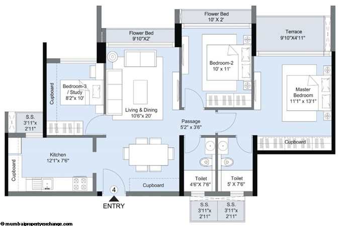 L and T Seawoods Seawoods Residences 3BHK Imperio