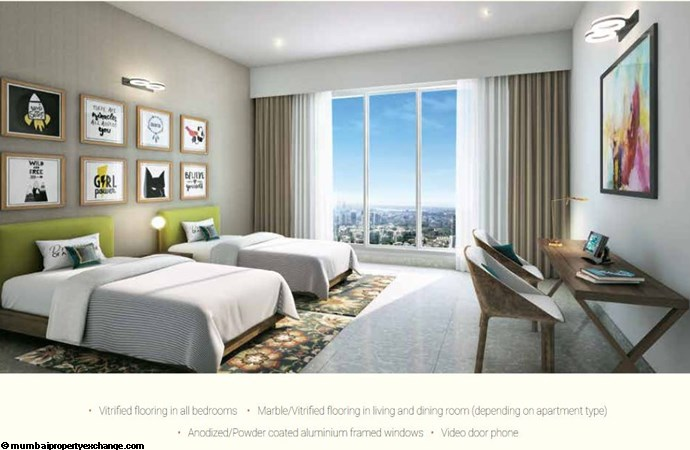 L and T Seawoods Seawoods Residences Bedroom2