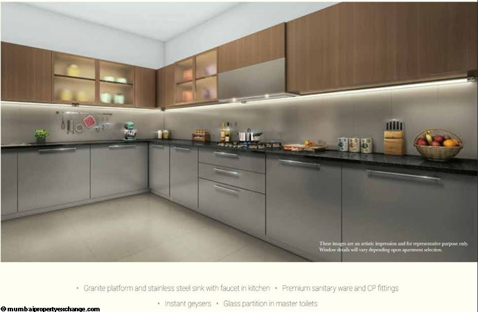 L and T Seawoods Seawoods Residences Kitchen