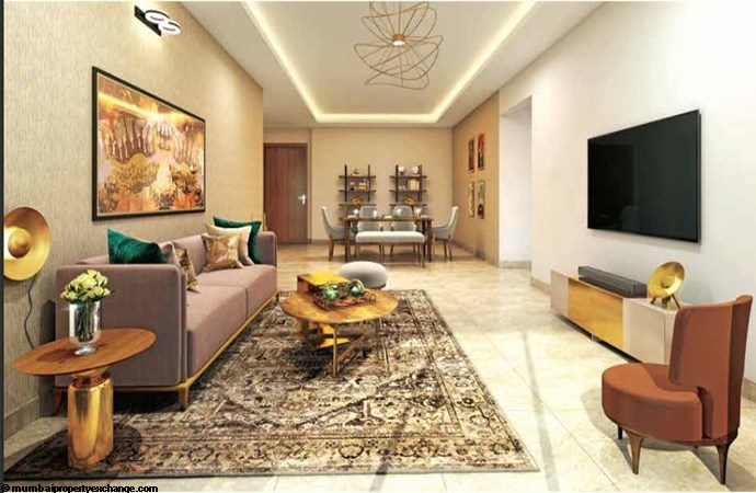 L and T Seawoods Seawoods Residences Living Room