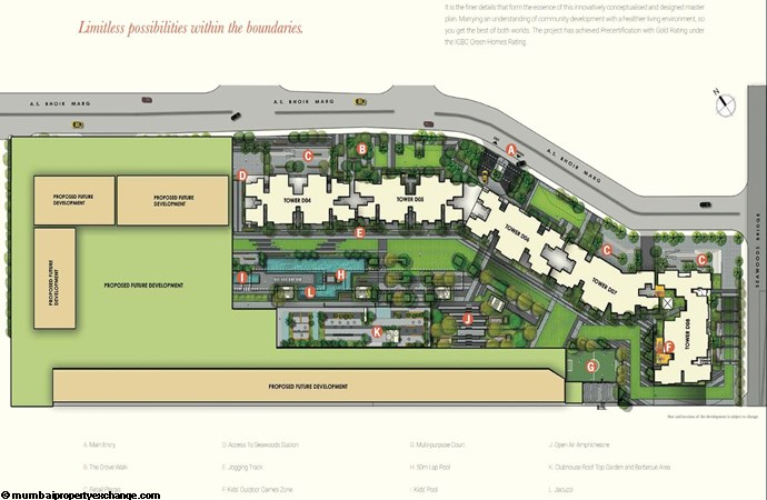 L and T Seawoods Seawoods Residences Master Plan