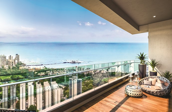 Vivarea Tower E K Raheja Vivarea Living Room Balcony
