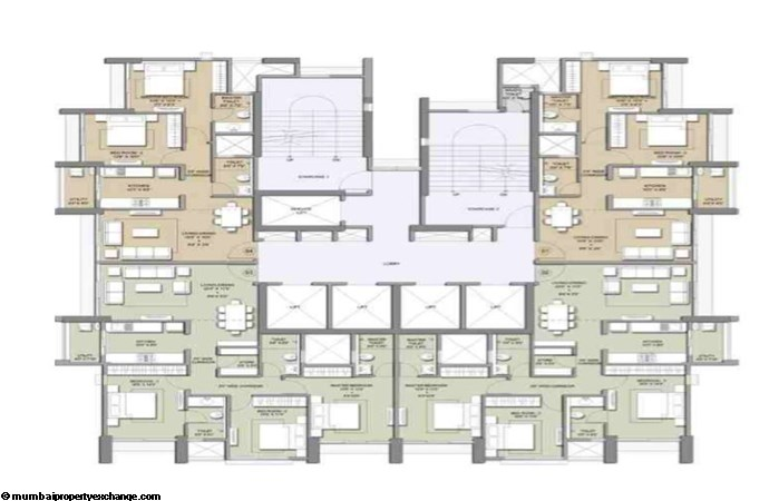 Primo Lodha Primo Typical Floor Plan