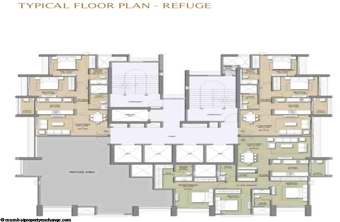 Primo Lodha Primo Typical Refuge Floor Plan