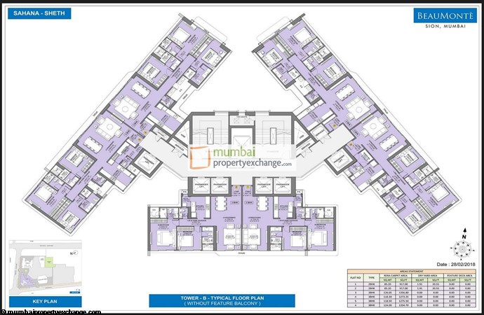 Sheth Beaumonte Tower B Sheth Beaumonte Typical Floor Plan without balcony Tower B