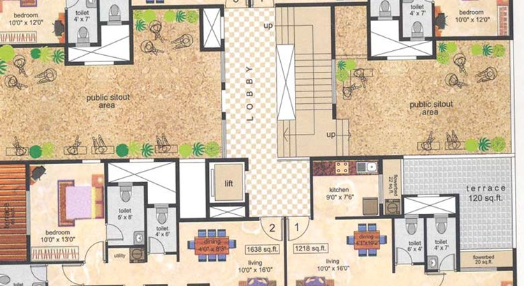 Whispering Palm Floor Plan