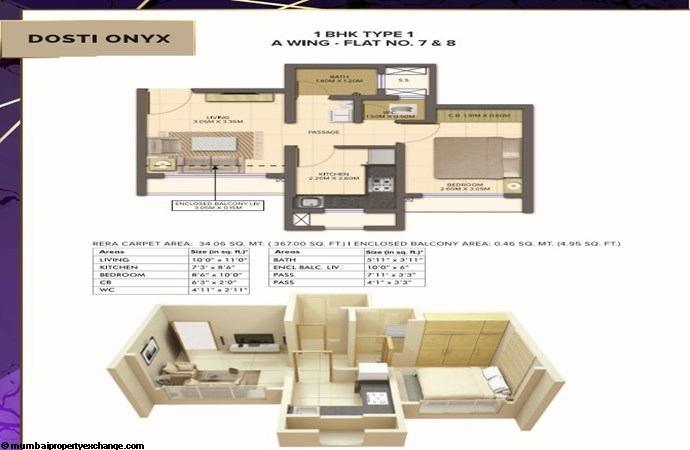 Planet North - Onyx Planet North Onyx 1BHK Type 1-Wing A