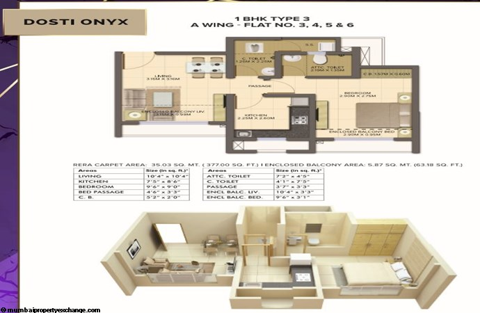 Planet North - Onyx Planet North Onyx 1BHK Type 3-Wing A