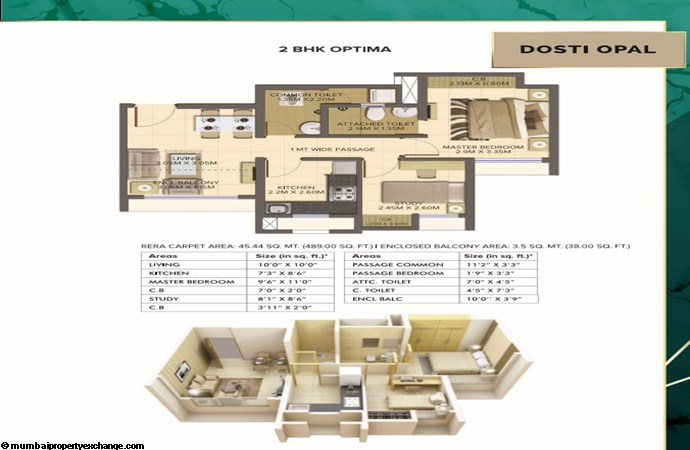 Planet North Opal Planet North Opal 2BHK Optima Plan