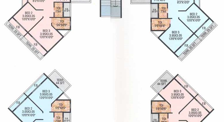 Siddhivinayak 2nd 5th 8th 11th Floor Plan