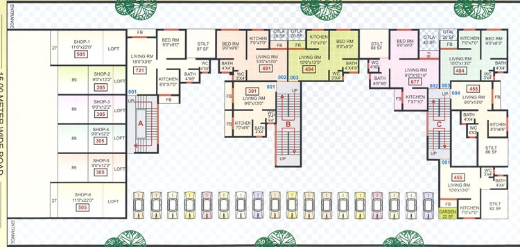 Dev Leela Ground Floor Plan