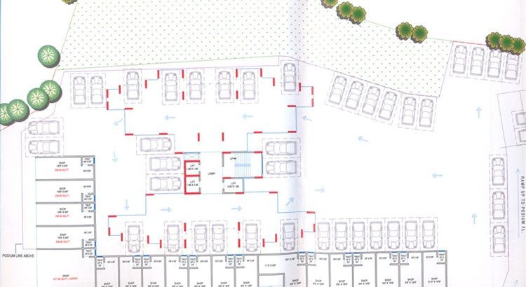 Siddharth Paradise Ground floor plan