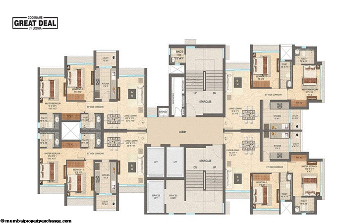 Lodha Codename Great Deal Great Deal Typical Floor Plan