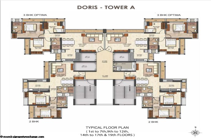 Runwal Pearl Runwal Pearl Doris Tower A Typical Floor Plan