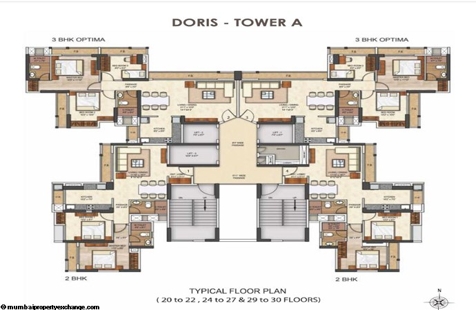 Runwal Pearl Runwal Pearl Doris Tower A Typical Floor Plan 2