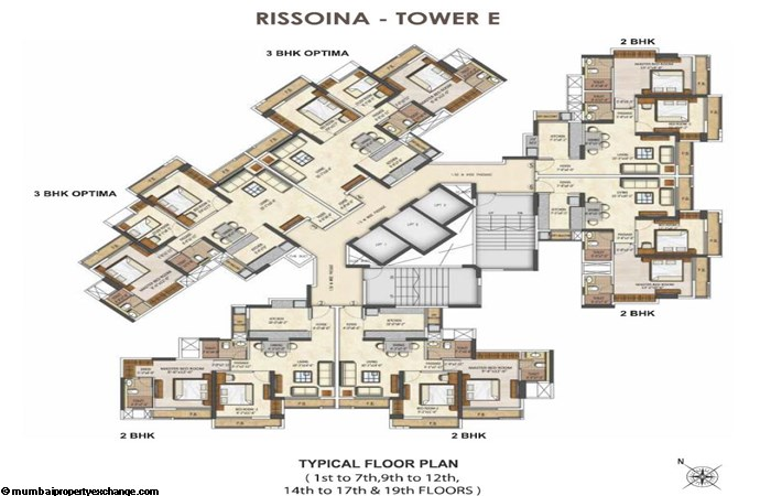 Runwal Pearl Runwal Pearl Rissoina Tower E Typical Floor Plan