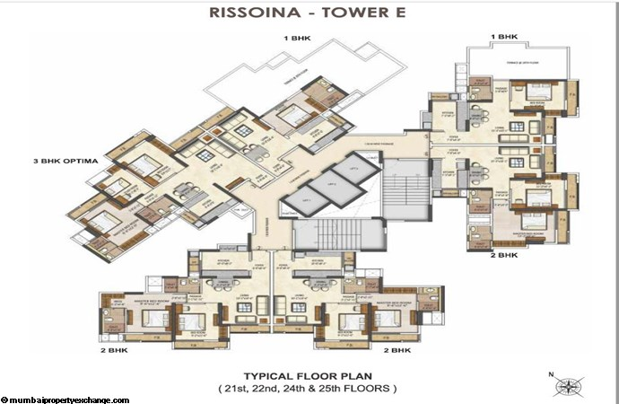 Runwal Pearl Runwal Pearl Rissoina Tower E Typical Floor Plan 2