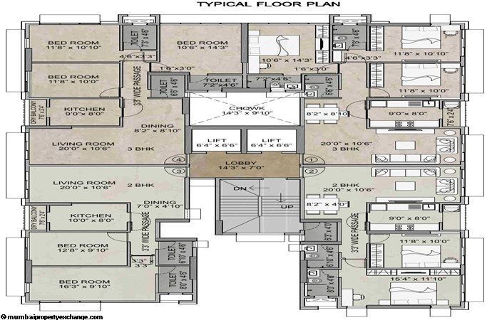 Juhu Sheetal Juhu Sheetal Typical Floor Plan