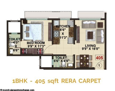 The Signature Tower Signature Tower 1BHK Plan