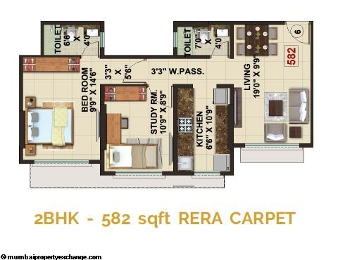 The Signature Tower Signature Tower 2BHK Plan 1