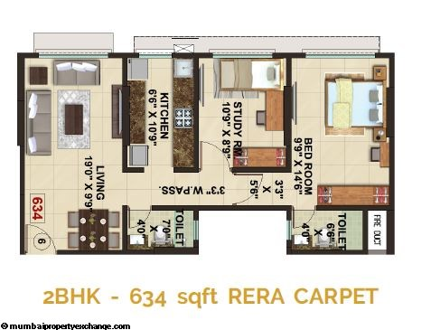 The Signature Tower Signature Tower 2BHK Plan Type 2
