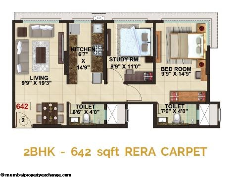 The Signature Tower Signature Tower 2BHK Plan Type 3