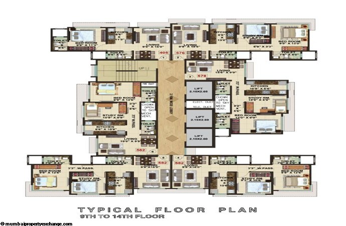 The Signature Tower Signature Tower Typical Floor Plan 1