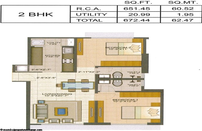 Runwal Pinnacle Runwal Pinnacle 2BHK Plan