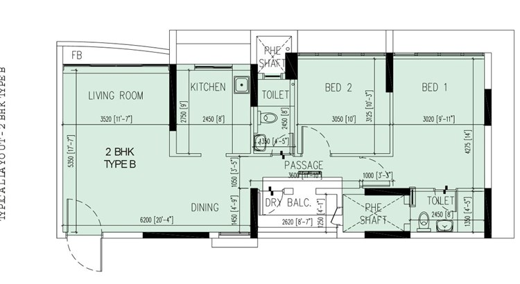 The Orchard Residency Floor Plan