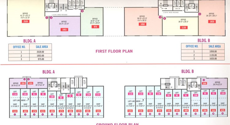 Om Sai Plaza Ground Floor Plan