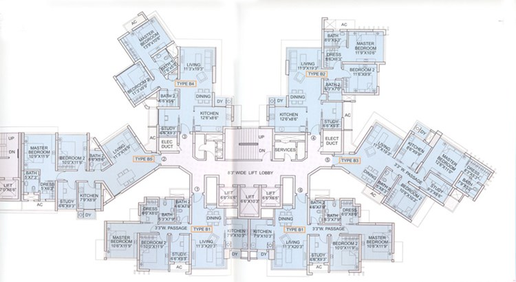 Sapphire Heights Block 6B Floor plan