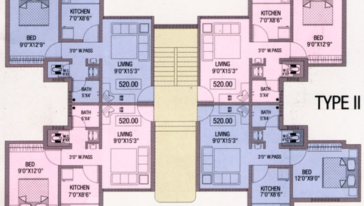 Anmol Garden Floor Plan type 1
