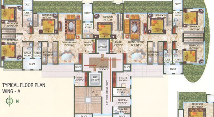 Waterford floor plan wing A