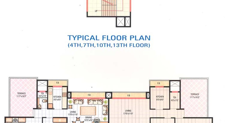 Poonam Tower Typical floor Plan