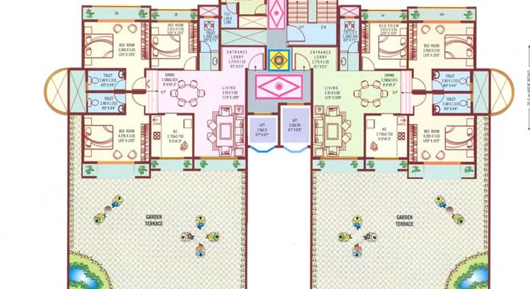 Bhoomi Paradise Tower A 2nd Floor Plan