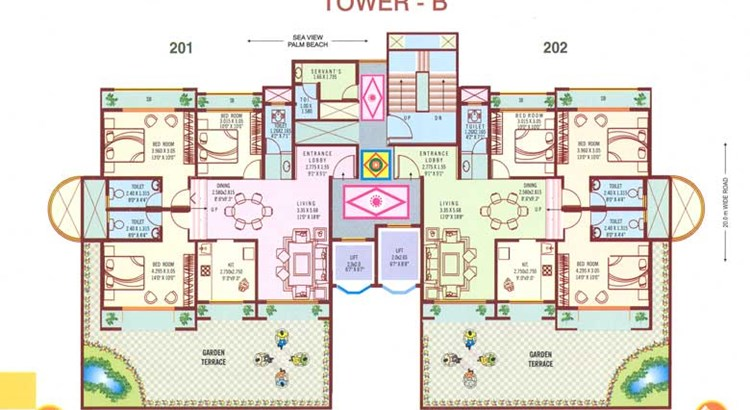 Bhoomi Paradise Tower B 2nd Floor Plan