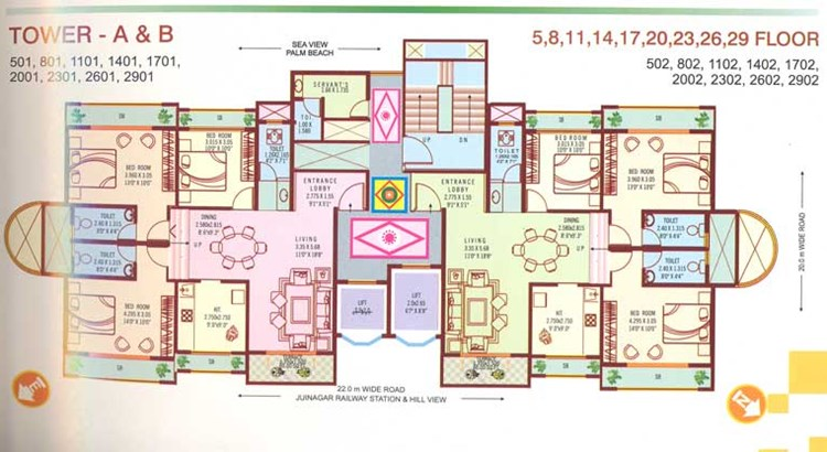 Bhoomi Paradise Typical Floor Plan