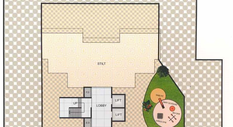 Priya Tower First Floor Plan